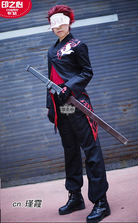Anime RWBY Adam Taurus Cosplay Costumes Black Fighting Uniform Full Set Coat+Tops+Pants+Belt+Loincloth+Gloves+Mask Custom-Make