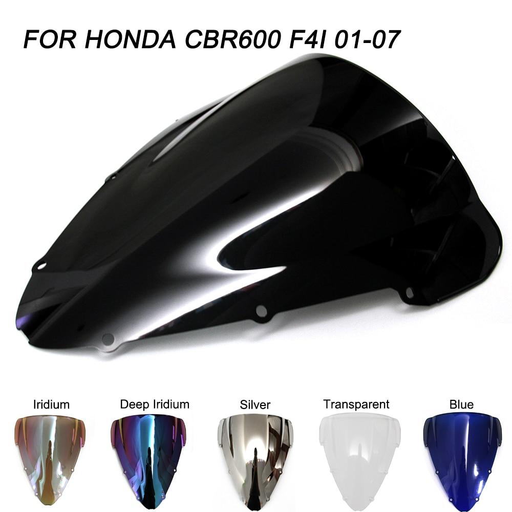ABS CBR600 Brisas Para Honda 2001-2007 Double Bubble Motocicleta CBR 600 F4i 01 02 03 04 05 06 07 brisa Defletores de Vento