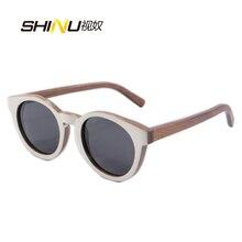 Popular Round Sun Glasses For Women Men Brand Designer Sunglasses Polarized Wood Sunglasses Handmade Travel Driving Eyewear NIJA