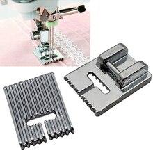 Suministros para el hogar, 5/7/9 ranuras para máquina de coser, pie para hacer pliegues, pie prensatelas para Janome Singer, etc., accesorios para máquinas de coser