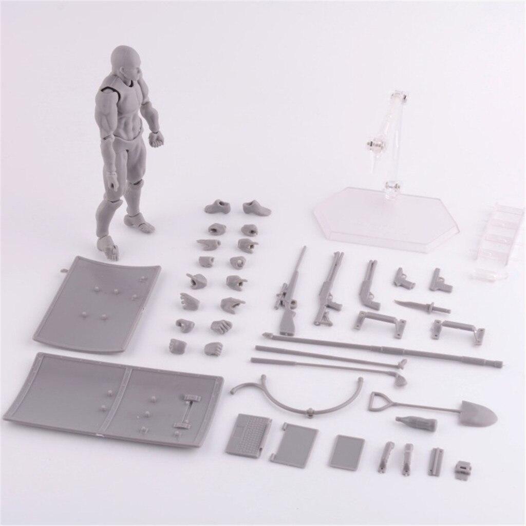Figuras de acción de juguete, figuras de dibujo para artistas, modelo de maniquí humano, figura articulada para hombre y mujer, figura articulada de PVC