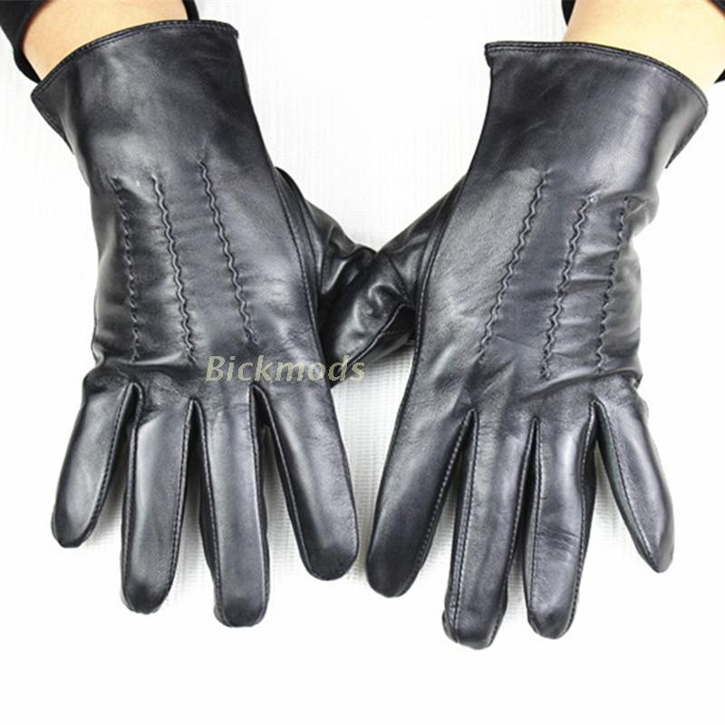 Men's Sheepskin Leather Gloves Unlined 100% Animal Thin Leather Cycling Spring and Autumn Driving Gloves man s real leather gloves thin spring autumn driving sheepskin gloves male unlined fashion simple free shipping te0625a