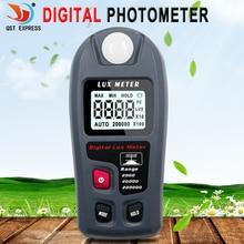 Lumière de poche numérique LCD, mètre lux numérique 200,000 Lux lumière de poche Lux FC testeur de mesure, MT-30