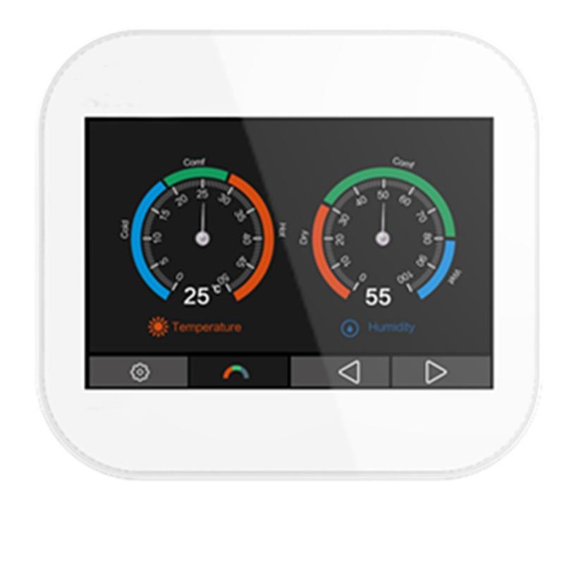 Modbus tcp-ترموستات بشاشة تعمل باللمس ، ملون ، باللغتين الإنجليزية/الألمانية/البولندية/الروسية/الإيطالية/الإسبانية/الفرنسية/