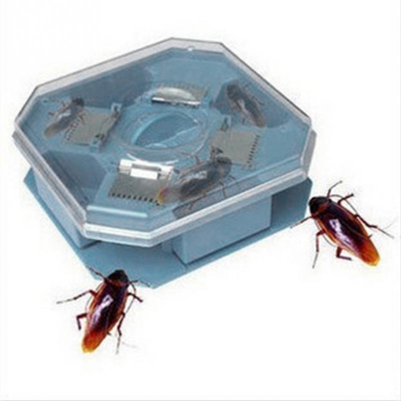 High Quality Reusable Plastic Non-Toxic Eco Blue Color Cockroach Bug Catcher Catch Insect Pest Killer Bait Traps