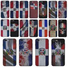 Yinuoda الهاتف الهاتف حالة الأزياء جمهورية الدومينيكان العلم ل فون 5s SE 6 6s 7 7 زائد 8 زائد 8X6 زائد X XS XR XSMAX الهاتف حالة