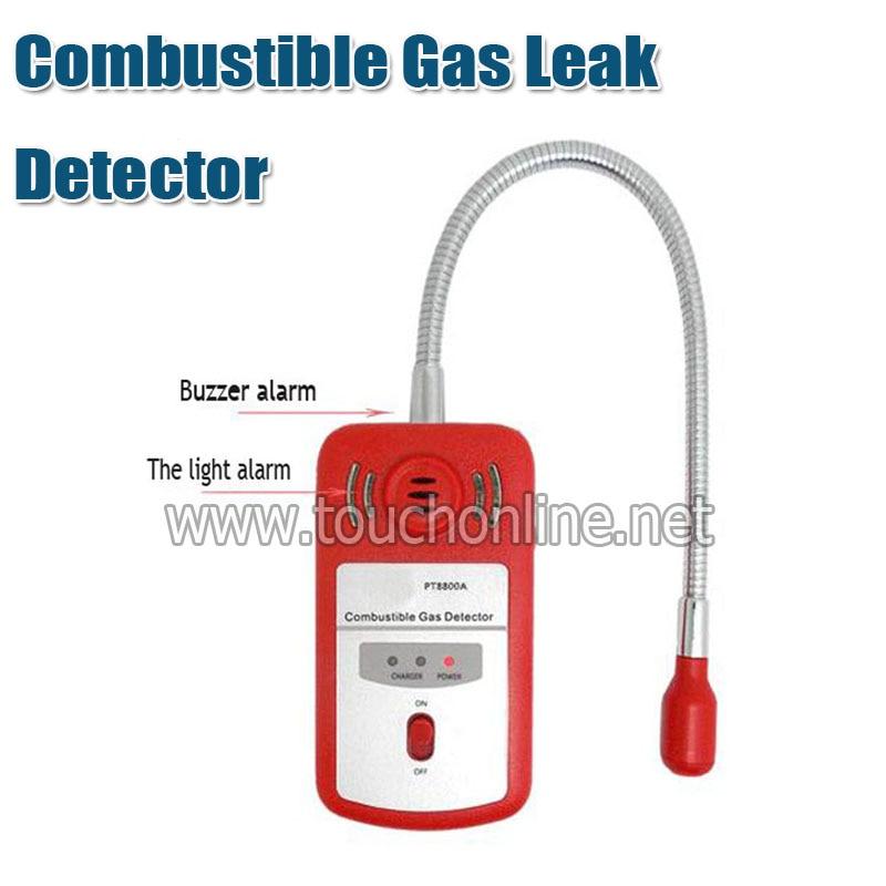 Analizador de Gas de alarma detector de fugas de Gas combustible portátil,...