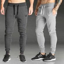 2019 erkekler spor salonları Joggers pantolon rahat elastik pamuk Mens spor egzersiz pantolonları sıska Sweatpants pantolon koşucu pantolonu