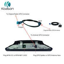 Автомобильный GPS антенный сплиттер кабель для BMW Benz Audi Android экран bmw GPS сплиттер кабель автомобильный навигатор GPS Аксессуары