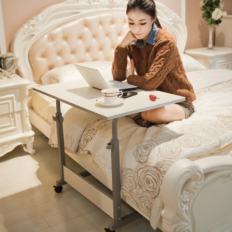 Simple muebles escritorio levantó hogar mesa de cama para laptop de escritorio ajustable para ordenador personal estable de escritorio de oficina