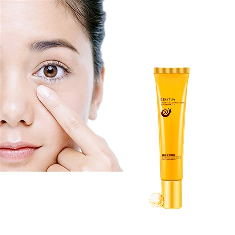 Snail Nutrition Eye Cream Multi Effects Extract 20g Anti-Puffiness Pouch To Black Bag Moisturizing Firming Soothing