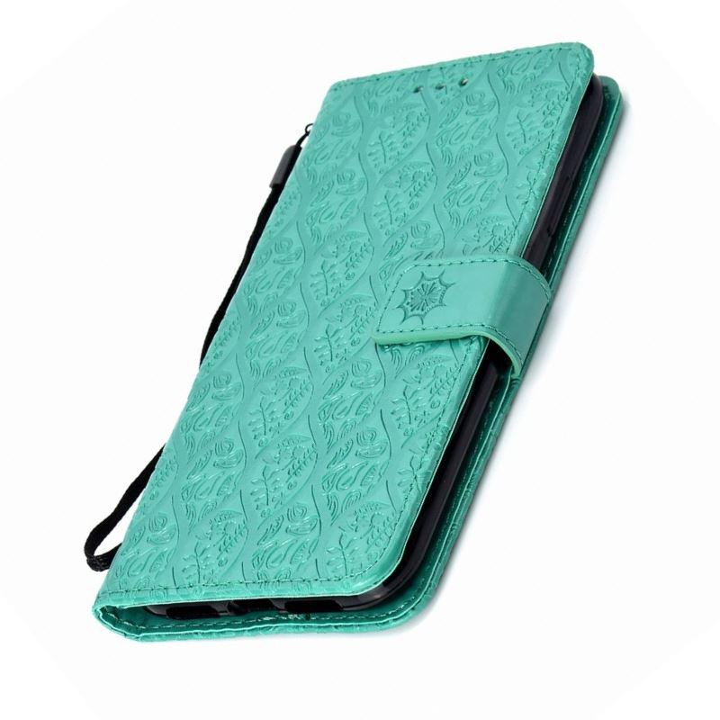 Fundas de piel sintética de ratán para marco Huawei Nova Mate 20 20X P10 P20 Plus P30 Pro P Smart P9 Lite Mini P8 Lite 2017, funda para libros E27Z
