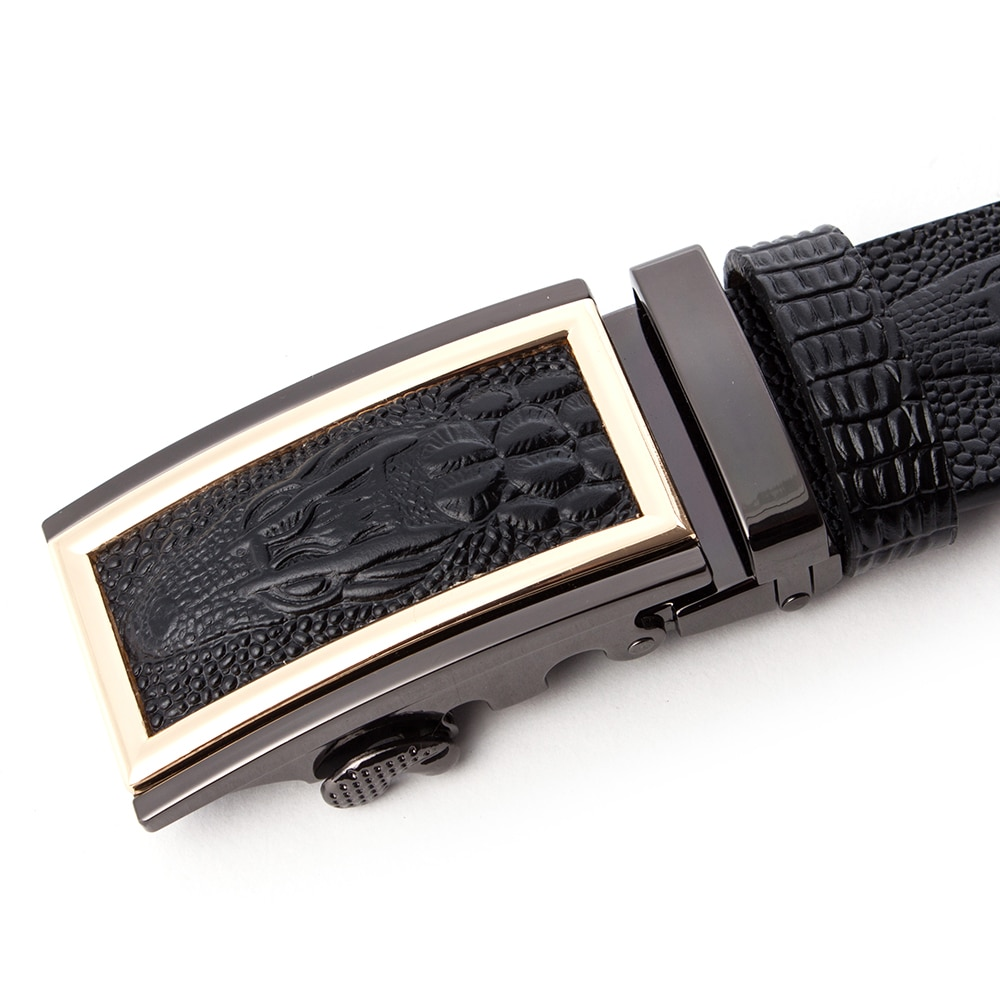 2019 Men Belts Genuine Leather 3D Crocodile Fashion Designer Automatic Belt Business Luxury Man Buckle Strap Cowskin Belts