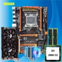 Nouveauté HUANAN deluxe X79 carte mère de jeu Xeon E5 2690 C2 avec refroidisseur RAM 32G (2*16G) DDR3 RECC GTX760 4G DDR5 carte vidéo