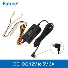12V24V to 5V Car power supply for GPS navigator DVR dc-dc converter step down buck module left T style MINI USB plug output