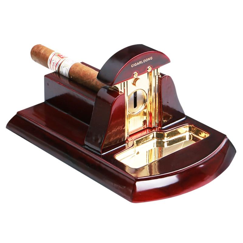 metal stainless steel cigar knife cigar desktop solid wood cigar scissors thicker cigar scissors CH-1031 enlarge