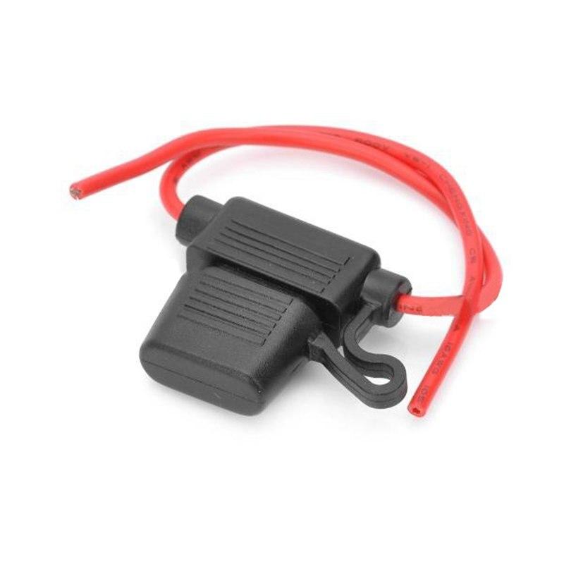5 uds toma de corriente a prueba de agua tipo hoja mediana en línea portafusibles fusibles de repuesto para coche enchufe de fusible para coche 5A 10A15A20A25A