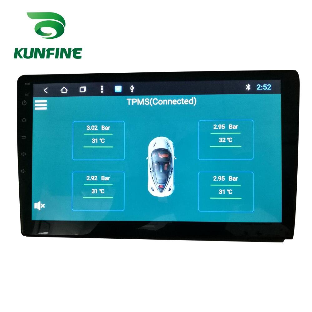 Kunfine Sistema De Supervisión De Presión De Neumáticos Dispositivo Tpms Con Usb Android Pantalla De Alarma 5v Navegación Android Radio De Coche Con 4 Sensores Alarma De Presión De Neumático Aliexpress