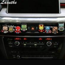 Ambientador de dibujos animados, Perfume de estilo de coche los vengadores, estilo Marvel para salida de ventilación de aire acondicionado Superman Batman, moda genial