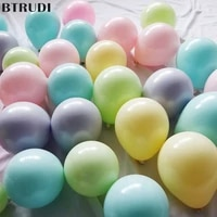 btrudi 100 sets 5 inch macarons candy latex balloon set birthday party decoration for adlut wedding celebration party supplies