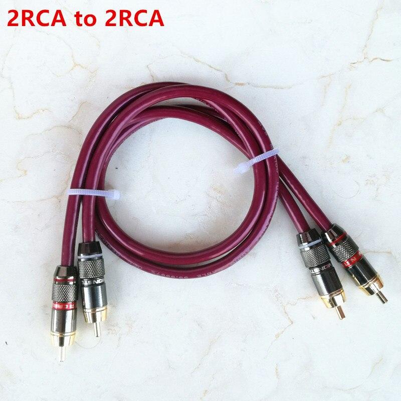 Cable de audio RCA a RCA de malla trenzada de cobre macho, cable de audio blindado, cobre 99.9997% libre de oxígeno para amplificador, envío gratis