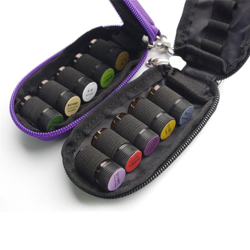 La caja de 10 ranuras para botella de aceite esencial protege para rodillos de 3ml Bolsa de aceites esenciales Organizador de almacenamiento de viaje