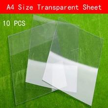Feuilles transparentes en plastique, format A4 210mm x 297mm x 0.3mm, plaque mince transparente en PVC, 10 pièces