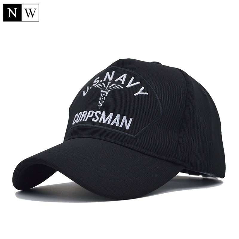 [NORTHWOOD] High Quality US NAVY Baseball Cap Men Navy Corps Tactical Baseball Hat 5 Panel Caps Navy Seal Snapback For Adult
