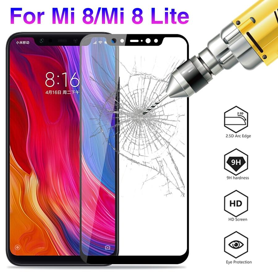 Cristal de pantalla curvada 3D 9H para Xiaomi mi 8 Lite, cristal templado Global para Xioami Xaiomi mi9 mi 8 light 6,26, película protectora