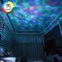 Proyector ola de mar, envío directo, luz LED nocturna, Control remoto, tarjetas TF, reproductor de música, altavoz, proyección Aurora