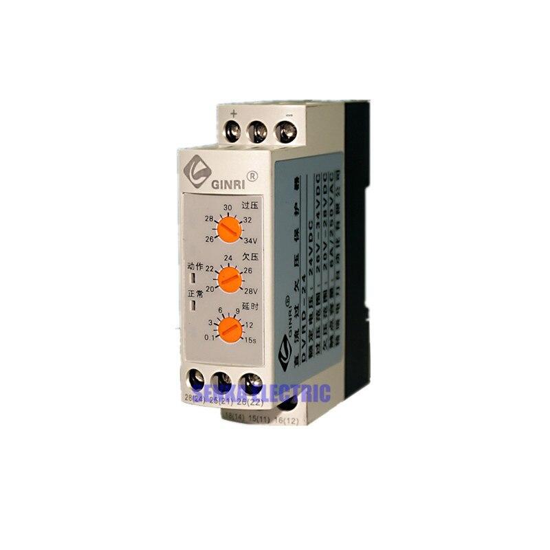 DVRD защита от перепада напряжения светодиодное реле постоянного тока защита от перенапряжения DC12V DC24V DC36V DC48V