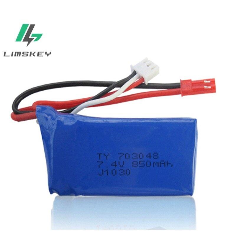 7,4 V 850mAh li-po batería de lipo de 703048 WLtoys V912V262V353B eje modelo de aviones baterías lipo 2s lipo 7,4 v 703048