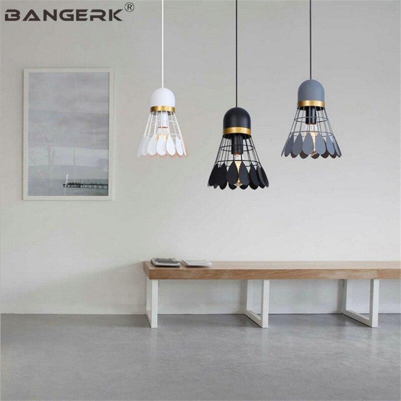 Lámpara colgante de diseño nórdico, lámpara colgante moderna de hierro para bádminton, lámpara colgante para comedor, lámpara colgante, lámpara colgante para decoración del hogar, accesorios de iluminación