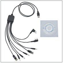 8 en 1 ordinateur câble de programmation USB pour Kenwood Baofeng Motorola Yaesu pour Icom pratique talkie-walkie autoradio CD logiciel