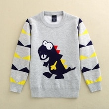 2021 Autumn Children's Clothes Boys Sweaters Long Sleeve Thicken Boy Knitted Pullover Sweaters For B