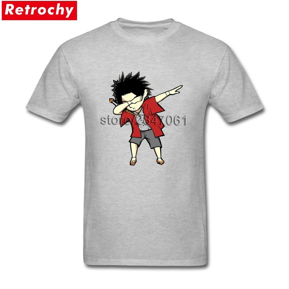 Samurai Champloo Dabbing Camiseta linda de los hombres de manga corta de algodón de cuello redondo Camiseta para niño