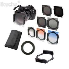 49 52 55 58 62 67 72 77 82 mm anneau + carré gradué ND2/ND4/ND8 Orange bleu Kit de filtre dobjectif de caméra pour adaptateur Cokin série P