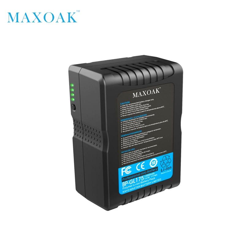 Аккумулятор MAXOAK V177 V 177Wh 12000 мАч/14,8 в литий-ионный аккумулятор с v-креплением и v-замком для видеокамеры и видеокамеры