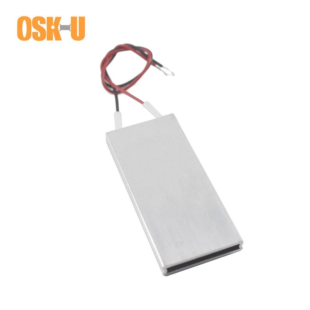 Termostato PTC elemento de calefacción 24V 70x30x6mm 60/120/160/230/80 grados centígrados de temperatura constante, placa calefactora, cubierta de aluminio