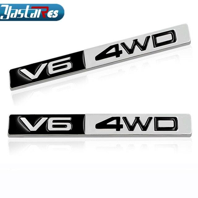 3D Металл V6 4WD эмблема знак, наклейка на автомобиль двигатель смещения Наклейка для Toyota corolla avensis rav4 auris camry автомобильный Стайлинг Yaris