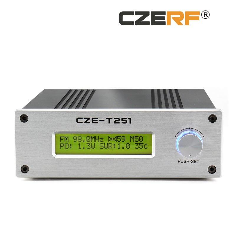 CZE-T251 25W wireless long range fm transmitter mini audio amplifier 87-108MHz Adjustable