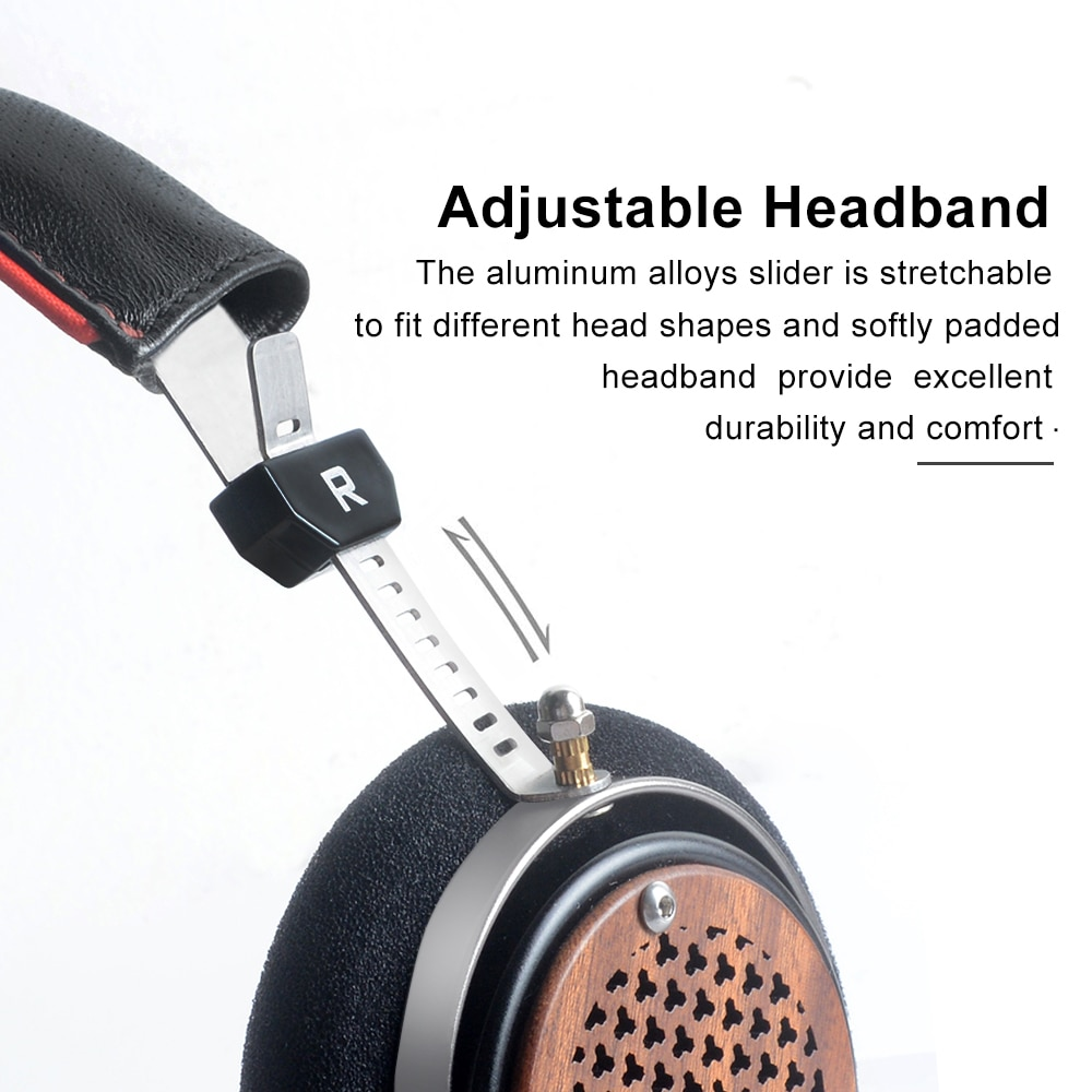 OKCSC ZX2 Open Back Headphones Wired Wooden Headset Over Ear HiFi Monitors Music Headset Silver Plated Cables 3.5mm Audio For PC enlarge