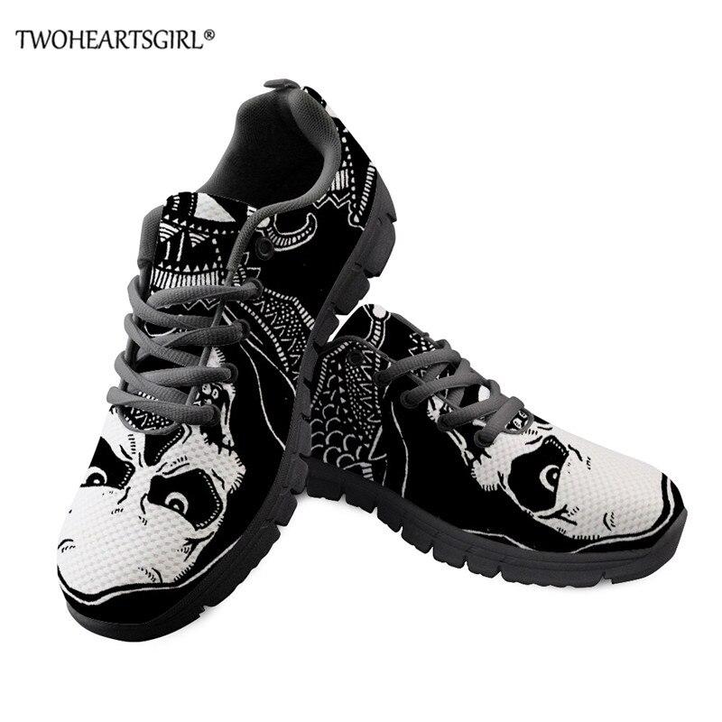 Crânio de Açúcar Tênis de Malha Sapatos de Renda Leves e Confortáveis Twoheartsgirl Masculino Vulcanizar Sapatos Masculinos Tênis Respiráveis 2021