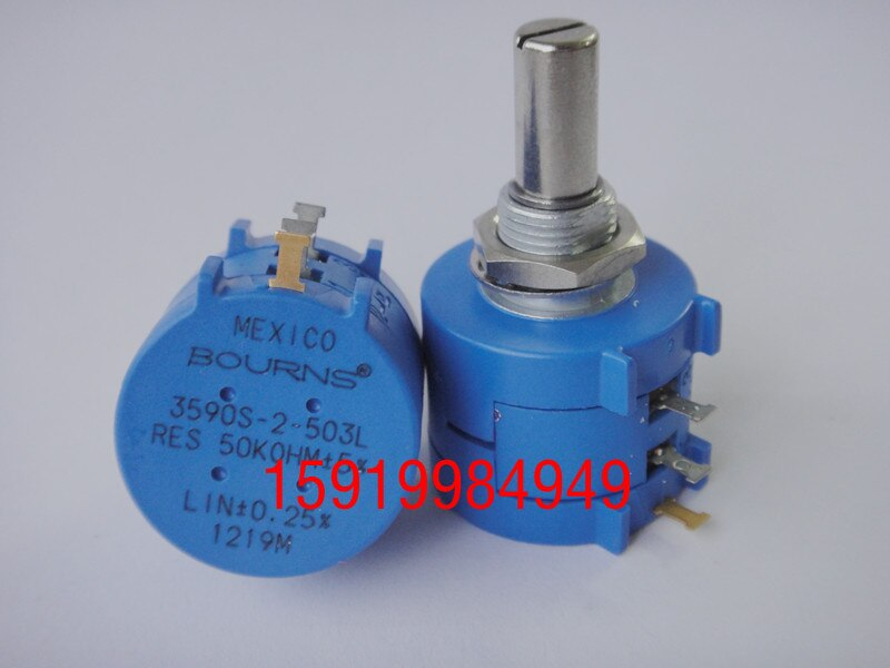 مقياس جهد دقيق 2 وات ، مقاومة قابلة للتعديل ، مفتاح 3590S-2-503L 50k مستورد