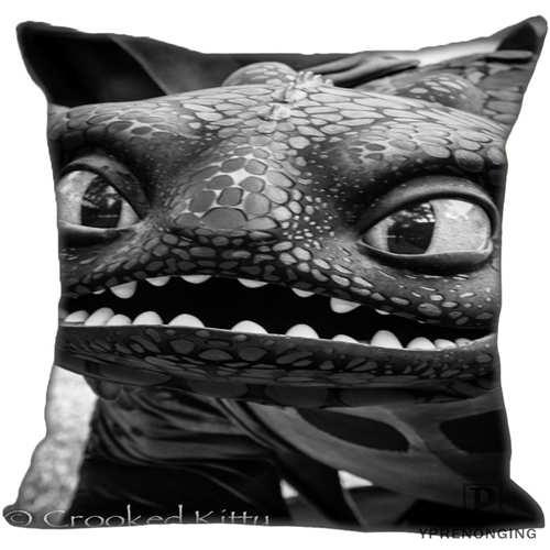 Mejor personalizado cómo entrenar a tu dragón (1)@ funda de almohada para dormitorio hogar fundas de cremallera cuadradas (un lado) #190404-01-146