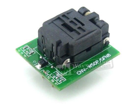 Wavesahre QFN8 do DIP8 (A) plastronics IC programowanie Adapter gniazdo testowe 5.1x6.1mm 1.27 skok dla QFN8 MLF8 MLP8 pakiet