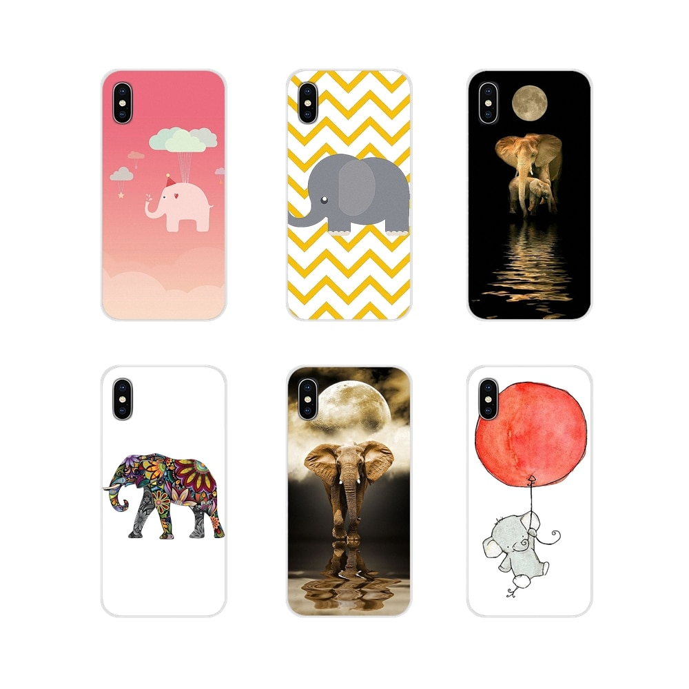 For Huawei G7 G8 P7 P8 P9 P10 P20 P30 Lite Mini Pro P Smart Plus 2017 2018 2019 Cute Interesting Elephant Drawing Silicone Cover