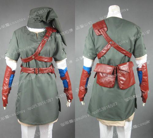 Anime la leyenda de Zelda Twilight Princess enlace traje de Cosplay traje J001
