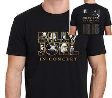 Camiseta negra para hombre de PIANO, Billy joei, Tour de concierto 2018, Talla s-XXXLO-Cuello moda impresa