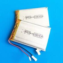 2 قطع بطاريات الليثيوم بوليمر بطارية ليبو 3.7 فولت 650 مللي أمبير قابلة لل mp3 gps dvd بلوتوث مسجل كاميرا 3*37*59 ملليمتر 303759